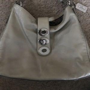 Olive green coach sling bag -COACH